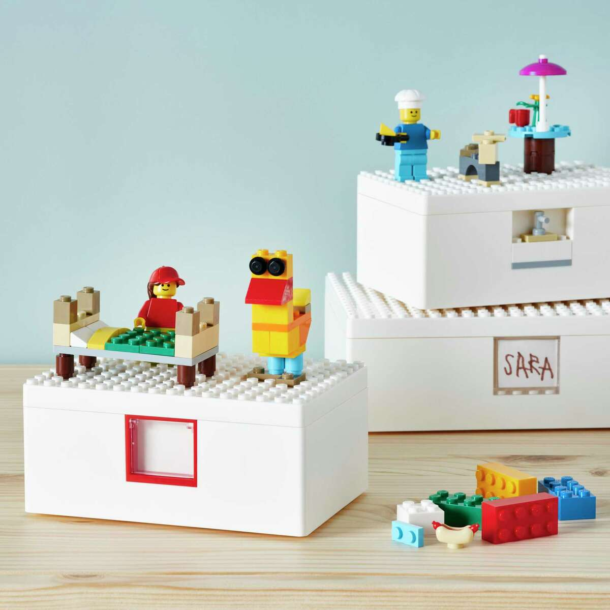 LEGO lovers will rejoice at the IKEA-LEGO collaboration that brings a first-of-its-kind collection with its BYGGLEK collection of playful storage solutions and a LEGO brick set unique to IKEA. LEGO boxes $9.99-$14.99 and 201-piece brick set, $14.99; ikea.com