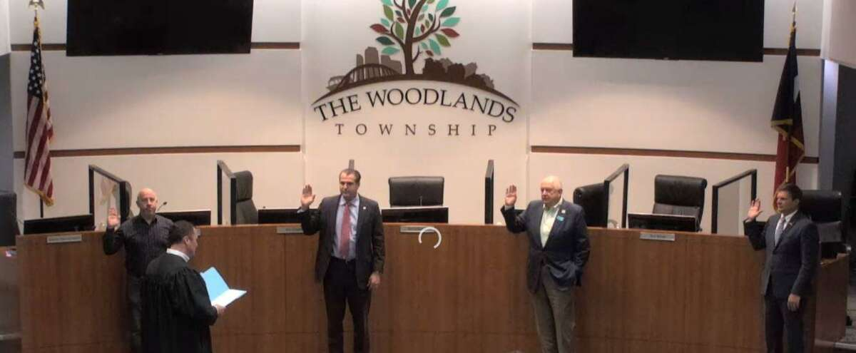The Woodlands Township Board of Directors approved the canvassing of the Nov. 3 election results during a special meeting on Nov. 17. On Nov. 18, the four newly elected board members were sworn into office for their two-year terms by Montgomery County Precinct 3 Justice of the Peace Matt Beasley.