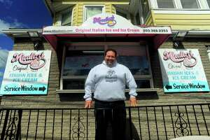 Owner Jay Piccirillo poses at Micalizzi's Italian Ice in Bridgeport in 2017.