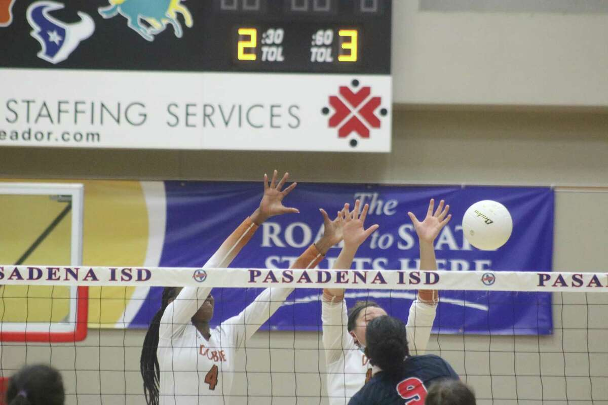 The kill that ended Game 2 has the ball sailing past Dobie's defense Thursday night and putting the Longhorns in a 2-0 deficit.