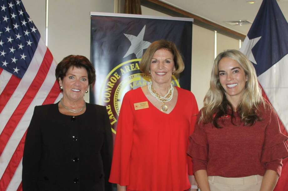 Lake Conroe Area Republican Women welcomed Toni Anne Dashiell, National Republican Committeewoman for Texas, as their guest speaker for the November meeting. For more information about LCARW please go to lcarw.org. Pictured here, left to right, LCARW President Julie Faubel, Toni Anne Dashiell and LCARW 1st VP Megan Metcalf. Photo: Courtesy Photo