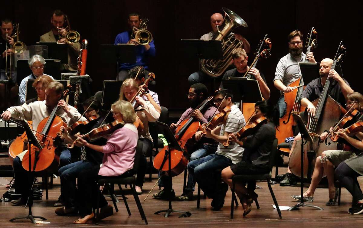 Musicians from the San Antonio Symphony, shown in rehearsal in 2016, are having a moment after going on strike Monday.