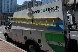 A file photo of an Eversource Energy vehicle.