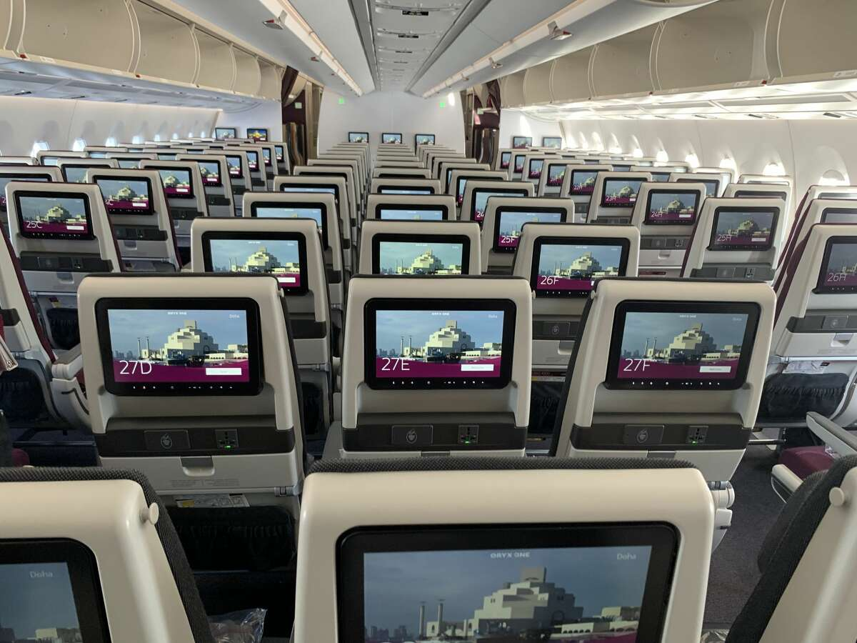 Each seat comes with 31-32 inches of pitch, oversized seatback monitors loaded with entertainment, and a universal power port. SEE THE SLIDESHOW at the top of this post for an in-depth look!
