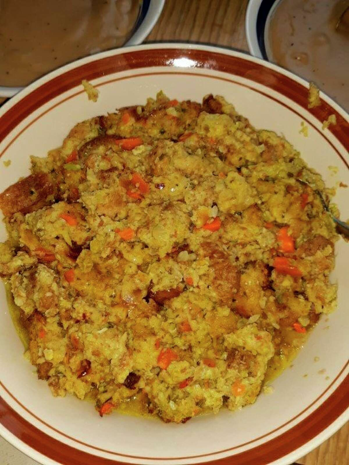 Lovina likes to serve this dressing as part of the Eicher Thanksgiving meal. (Courtesy photo)