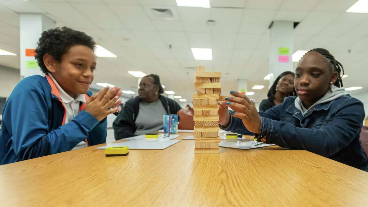 The math department at Willie Ray Smith Magnet Middle School held a STAAR Math night on Wednesday, January 29, 2020 to prepare their scholars for the upcoming STAAR Math test. Fran Ruchalski/The Enterprise