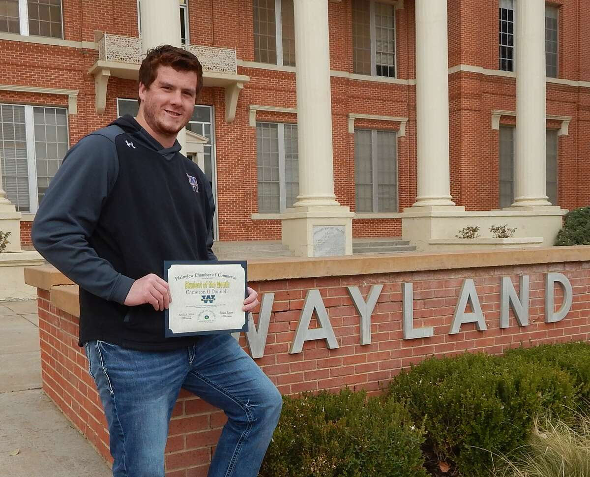 Cameron O'Donnell, 22, is the son of Jim and Donna O'Donnell of Lubbock. He is the November 2020 Student of the Month.