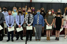 St. John Neumann's NJHS inductees numbered 18 this year.