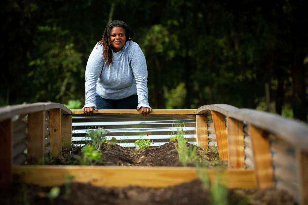 at The Ranch Houston, a multi-faceted yoga facility and garden education center owned by Tamika and Lenie Caston-Miller on Saturday, Oct. 24, 2020.