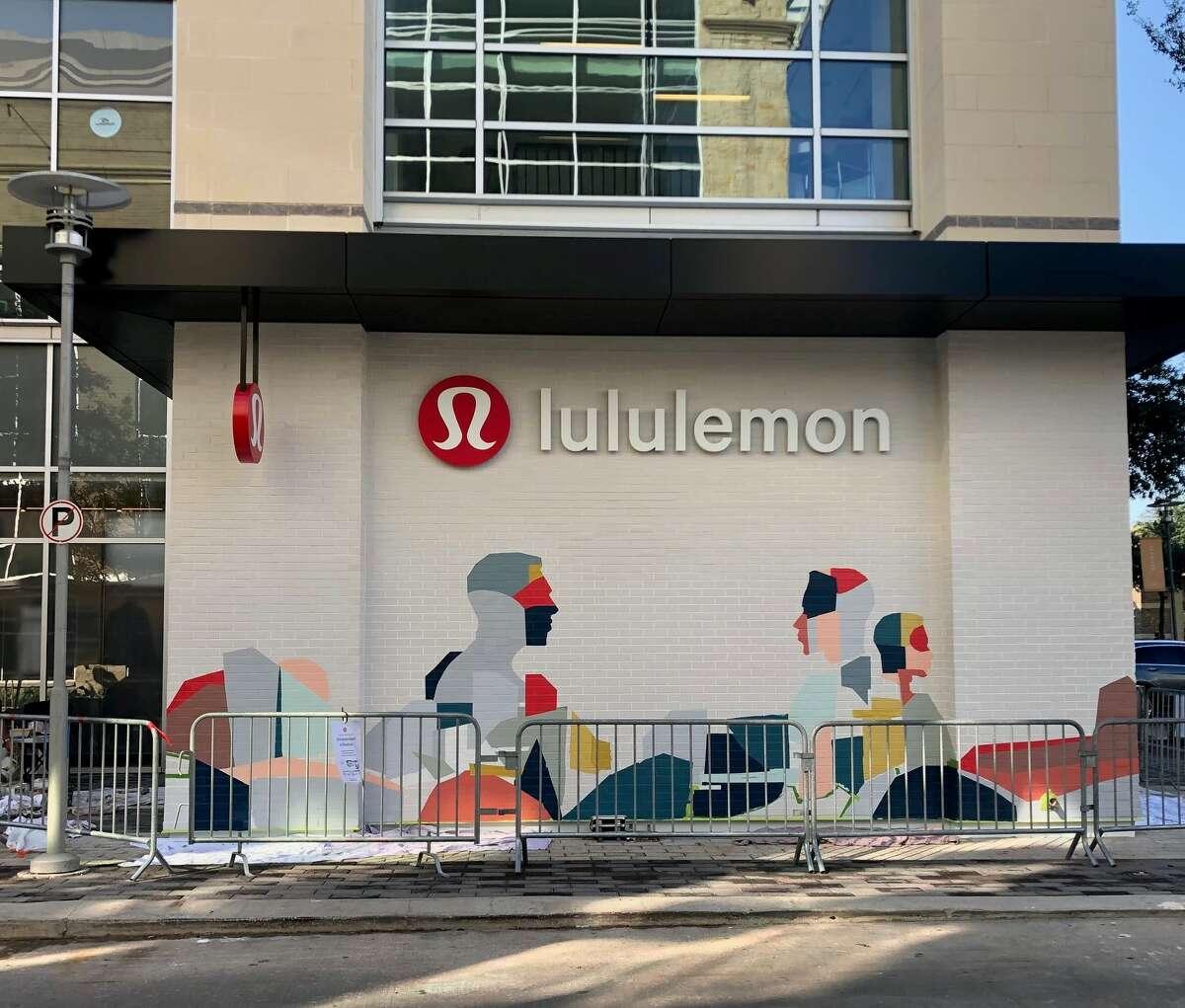 Houston artist Hugo Pérez created the Mind over Matter mural at lululemon's CityCentre store in west Houston.