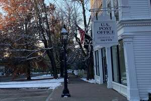 A view of the Litchfield Post Office on the corner of South and West streets, which will be part of the upcoming Tour of Litchfield, a passport event where guests visit local businesses, get their passports stamped, and become eligible for prizes.