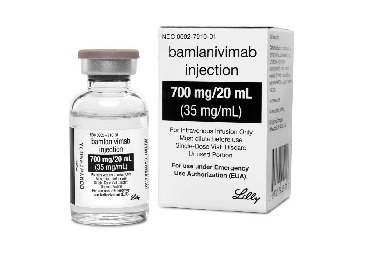 This photo provided by Eli Lilly shows the drug Bamlanivimab. On Monday, Nov. 9, 2020, the Food and Drug Administration cleared emergency use of Bamlanivimab, the first antibody drug to help the immune system fight COVID-19. The drug is for people 12 and older with mild or moderate COVID-19 not requiring hospitalization.