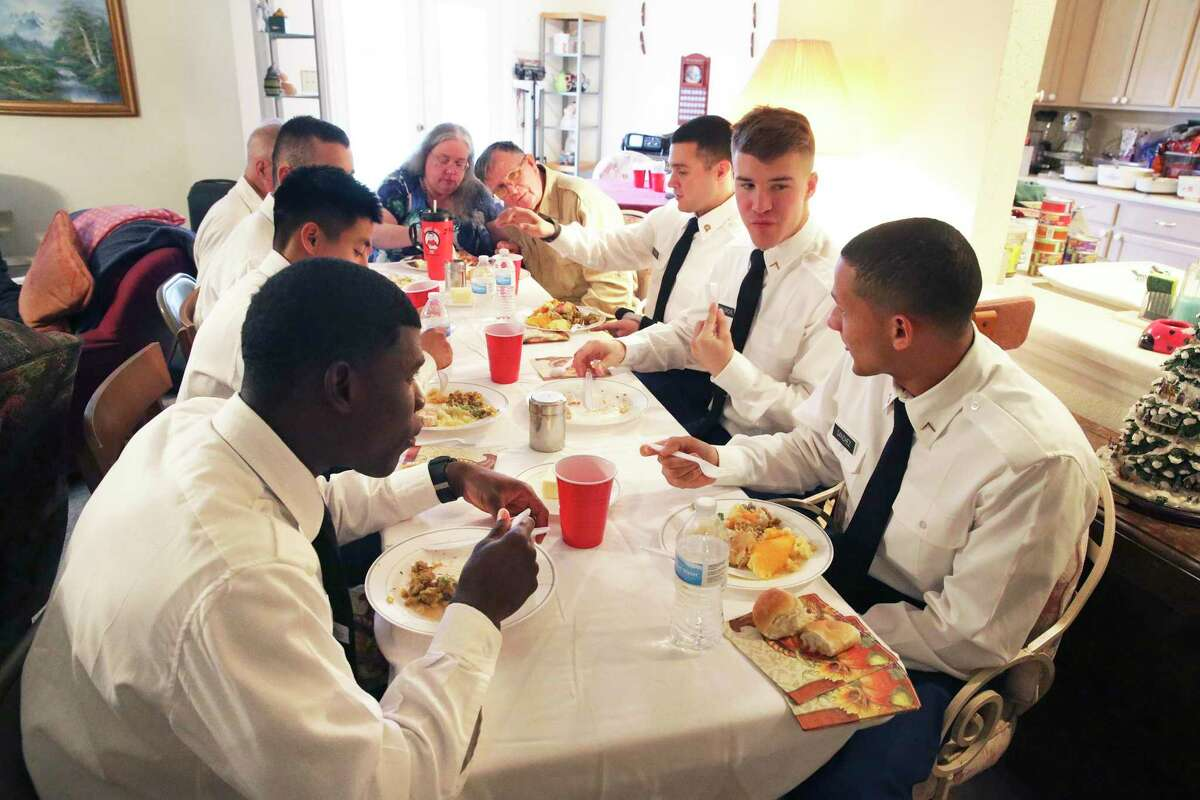 FILE PHOTO - Jan Briggs hosts soldiers from Ft. Sam Houston at her home for Thanksgiving dinner on Nov. 28, 2019.