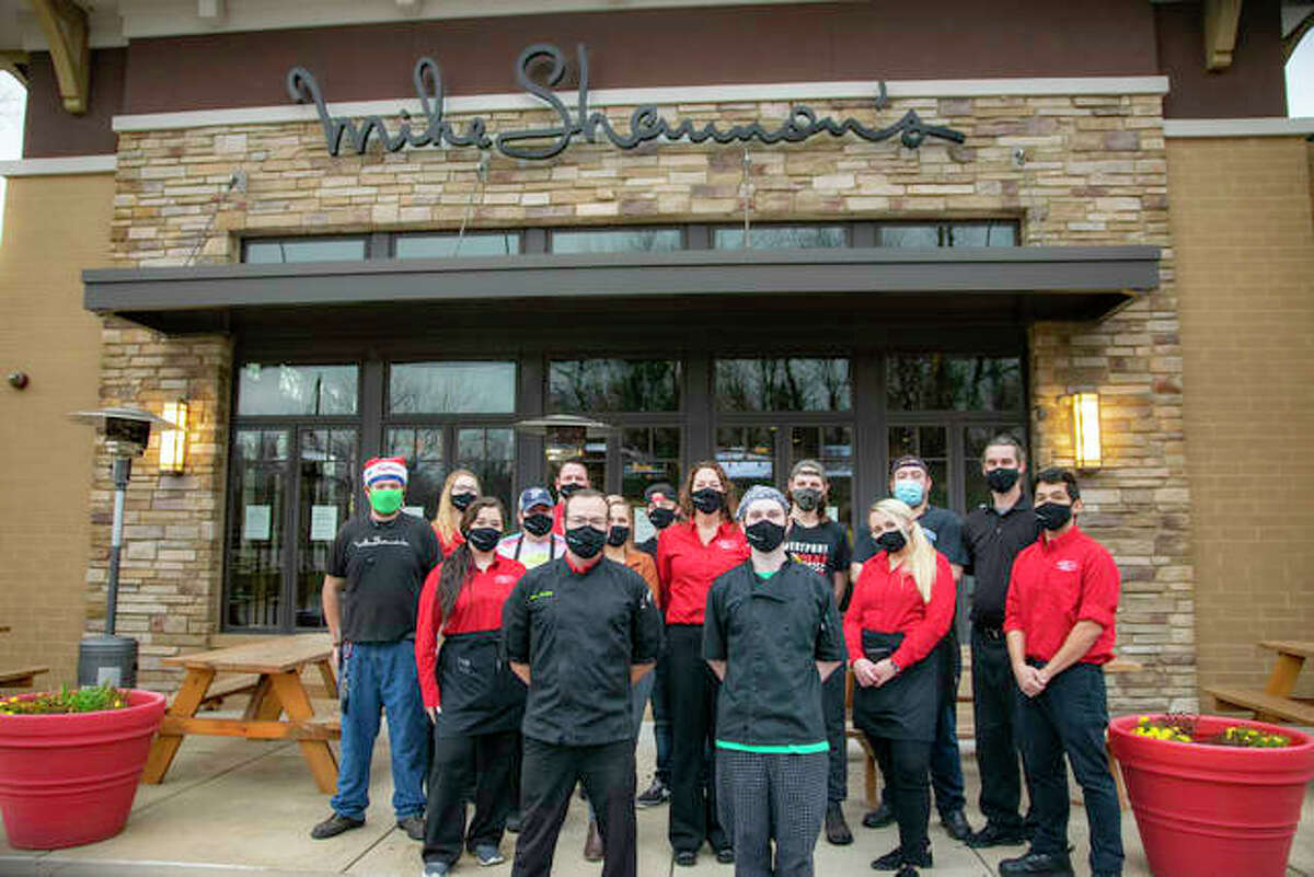 Staff at Mike Shannon's Grill stands ready for Friday night's dinner rush.