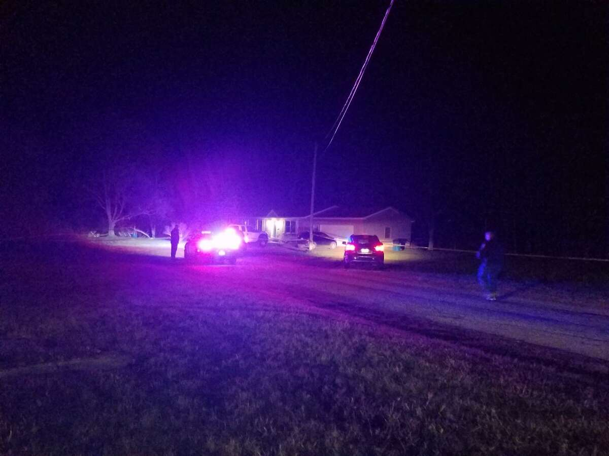 The Benzie County Sheriff's Office and Michigan State Police are still at the scene of a shooting on Friday night in the Village of Elberta that left two dead and two in critical condition.