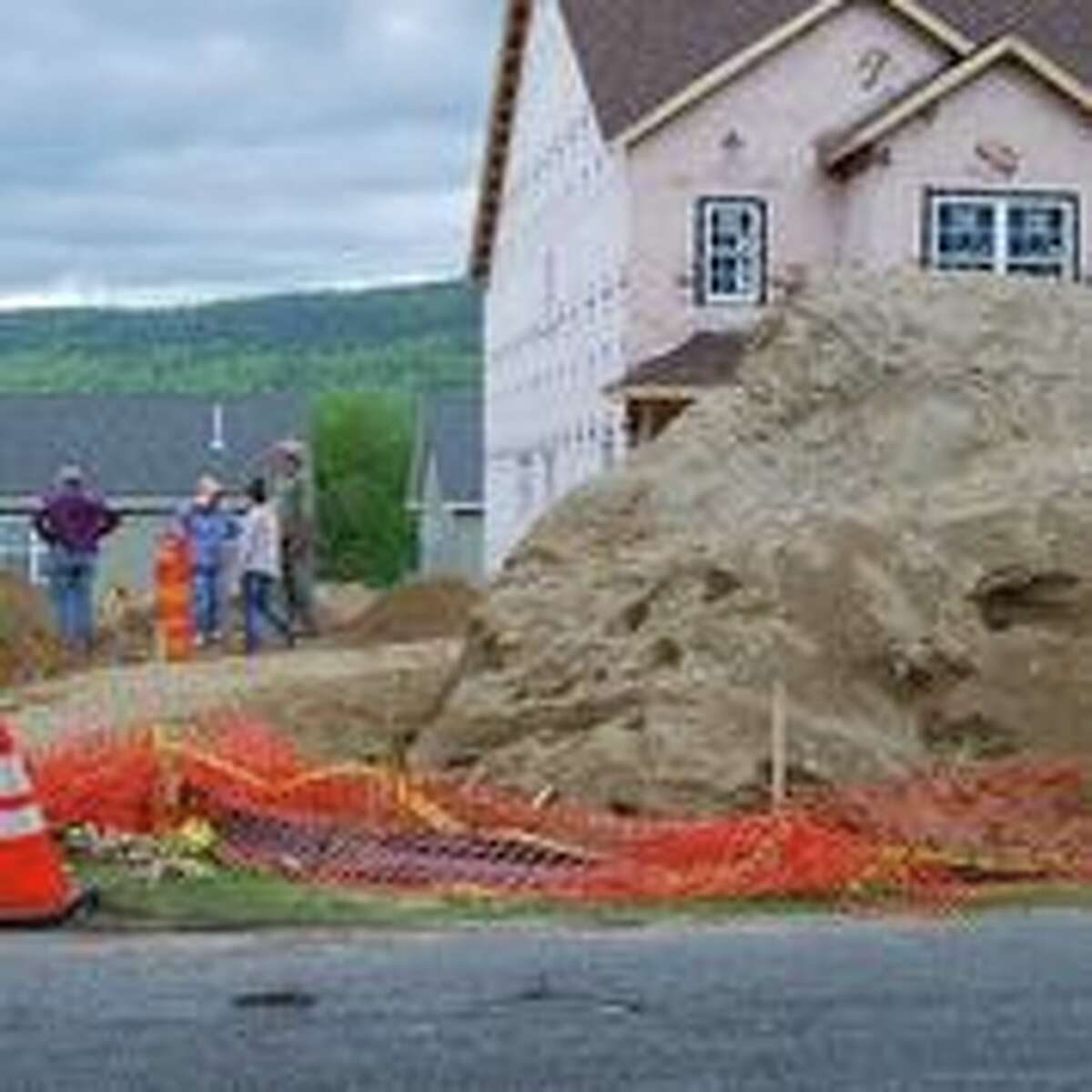 Volunteer archaeologists sifted a mound of dirt filled with the bones of Revolutionary War-era soldiers and people on May 24, 2019 in the village of Lake George. (Photo courtesy of the state Department of Environmental Conservation)