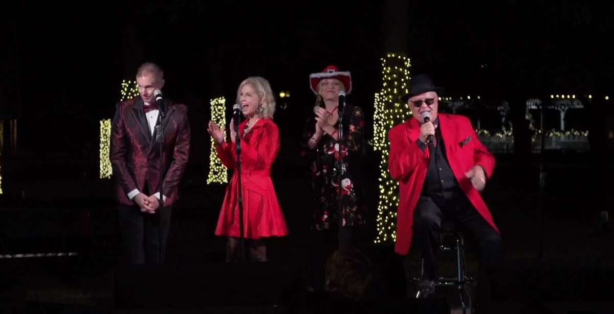 Keven Weishaar, Jenna Burns, Jo Vonna Hill and Cool Freddie E perform holiday classics during the annual Christmas tree lighting ceremony in Tomball, held virtually on Nov. 20, 2020.