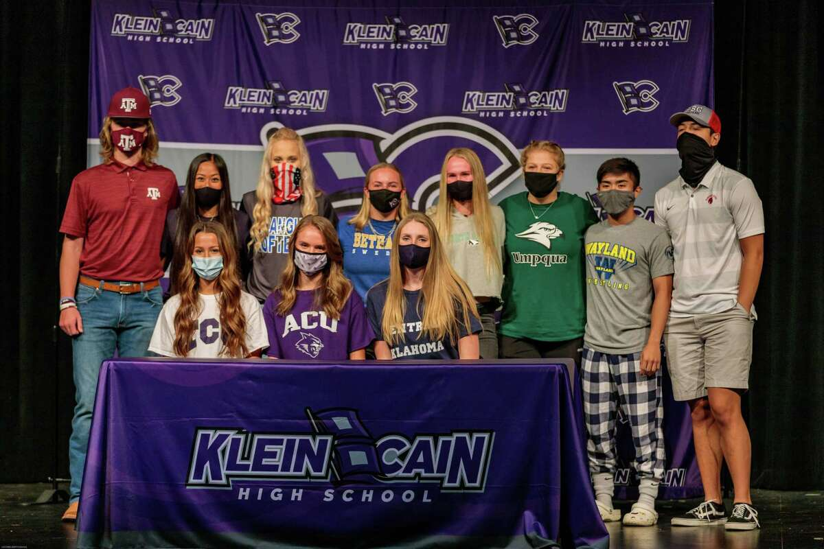 Athletes from Klein Cain High School signed their national letters of intent to play at the collegiate level during the early signing period Nov. 11.