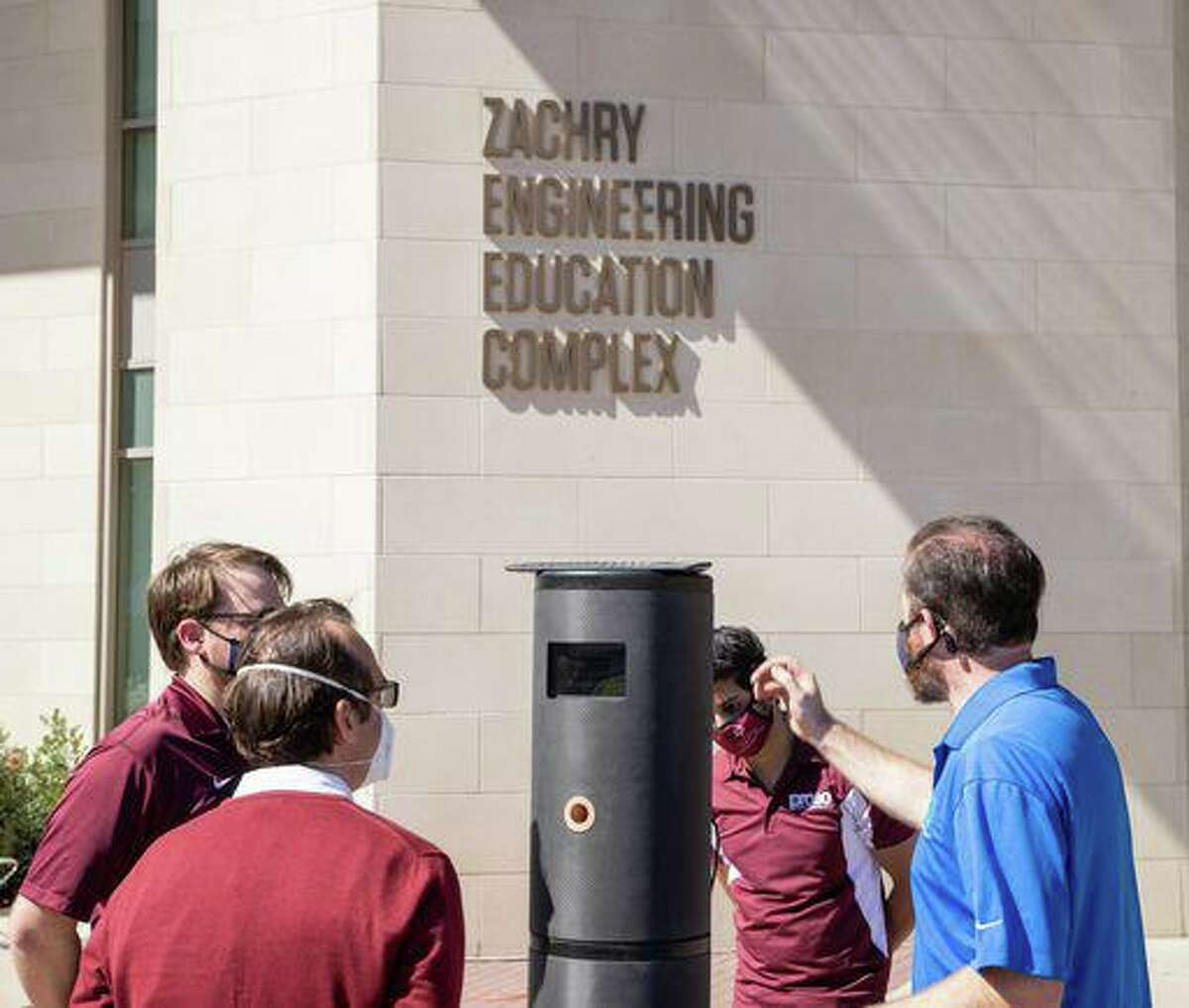Researchers at Texas A&M University and Worlds Inc., a Dallas-based artificial intelligence company, developed a breathalyzer kiosk that can detect COVID-19 in 2020.
