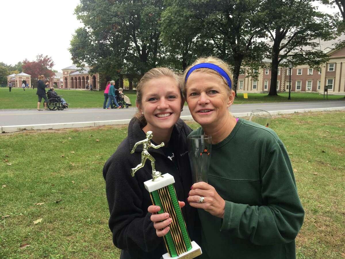 Lizzie and Ellen Predmore in October 2017 at the Saratoga Springs Pumpkin Challenge.