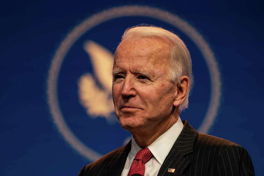 President-elect Joe Biden listens to a question from a reporter after he delivered a remarks on Thursday in Wilmington, Del. Photo: Washington Post Photo By Salwan Georges. / The Washington Post