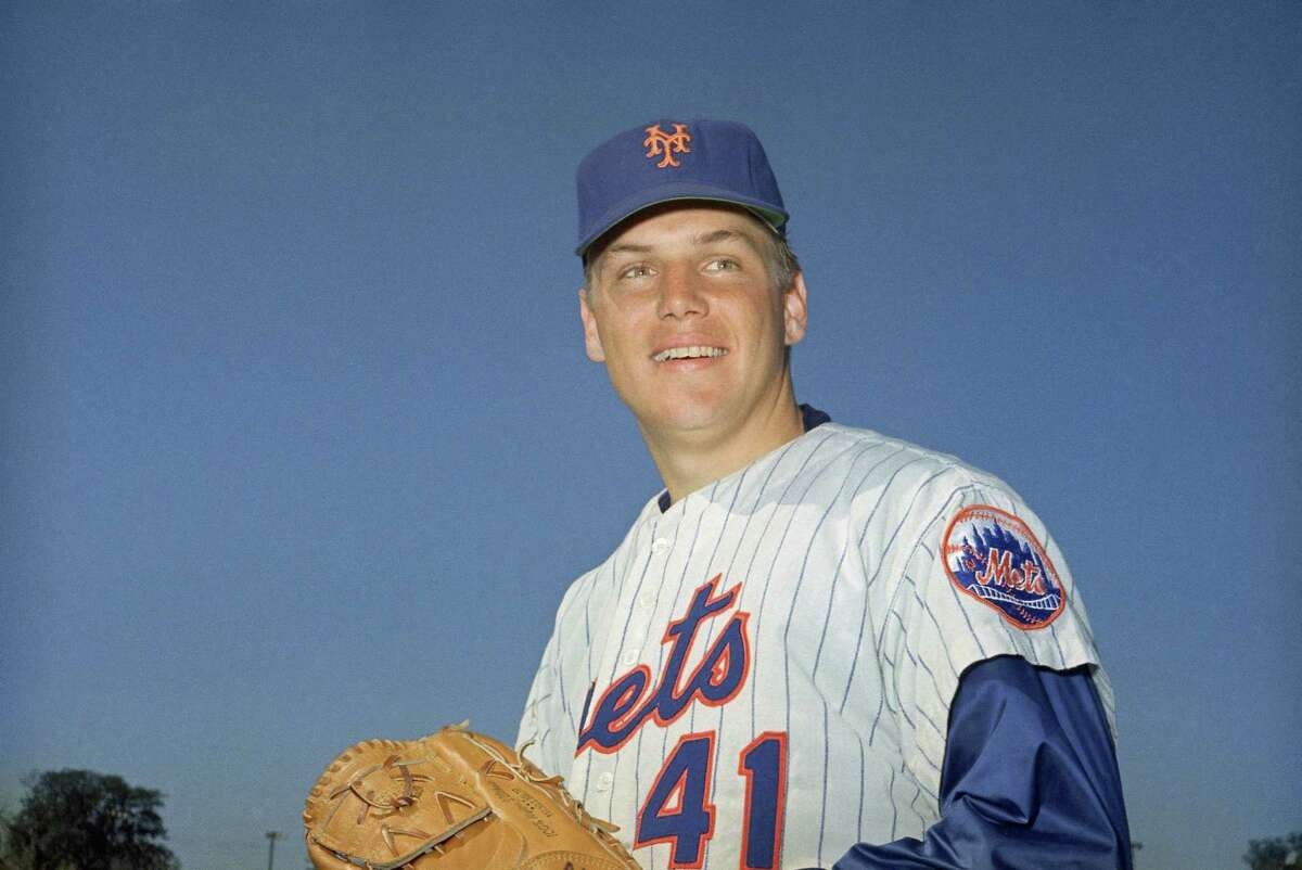 Tom Seaver, pitcher of the New York Mets is shown, is shown during spring training, March 1968. (AP Photo)