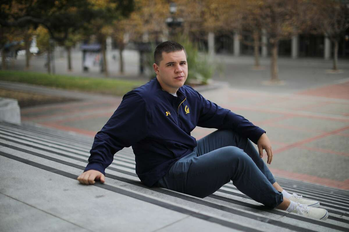 Henry Bazakas, a University of California football team walk-on five years ago who opted out of this season - his final year - because of coronavirus concerns, at the campus in Berkeley, Calif., Nov. 13, 2020. Bazakas found his scholarship cut off, and he was then billed more than $24,000 halfway through his summer term because the athletic department revoked the financial aid that it had already paid.