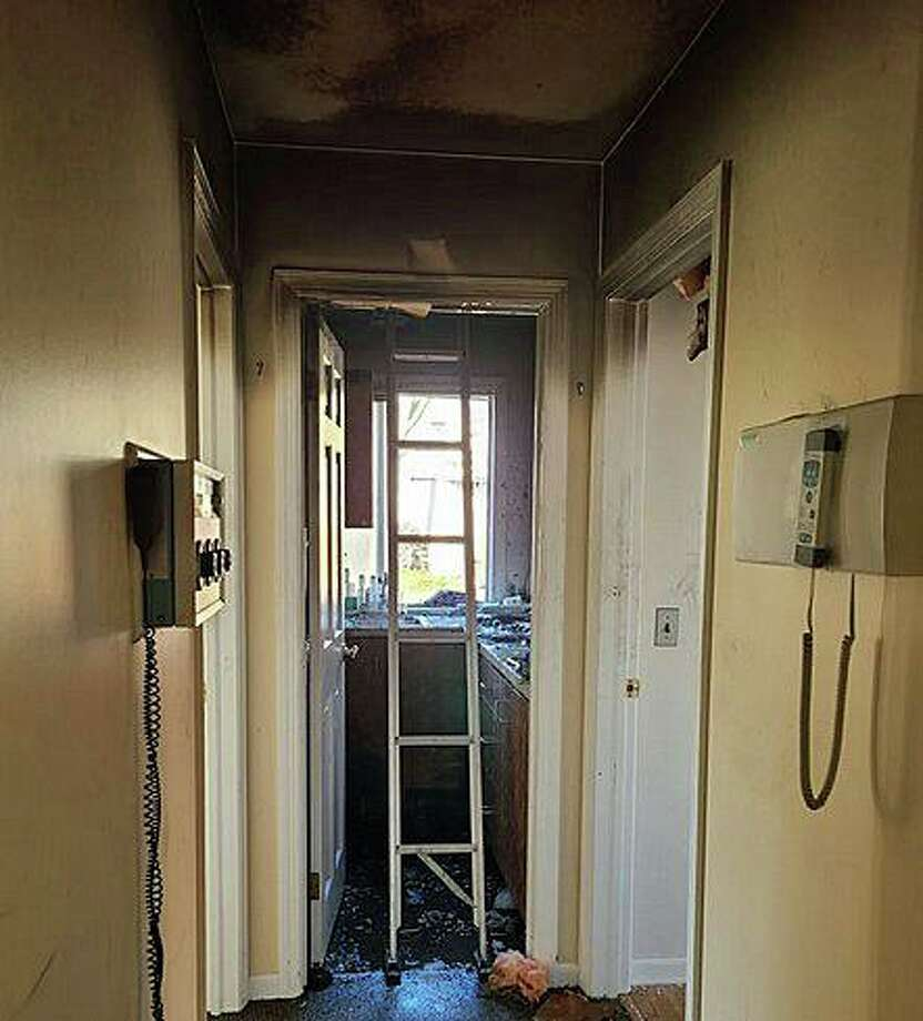 A Friday afternoon fire damaged a dental office on Hoyt Street, according to Capt. Philip Hayes. Smoke and fire damage was contained to a kitchen break room and two adjacent examination rooms Photo: Stamford Fire Department Photo