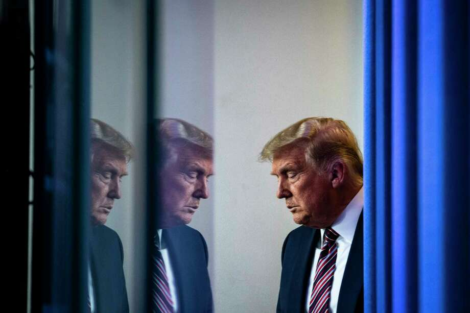 President Trump is pictured at the White House on Friday. Photo: Washington Post Photo By Jabin Botsford. / The Washington Post