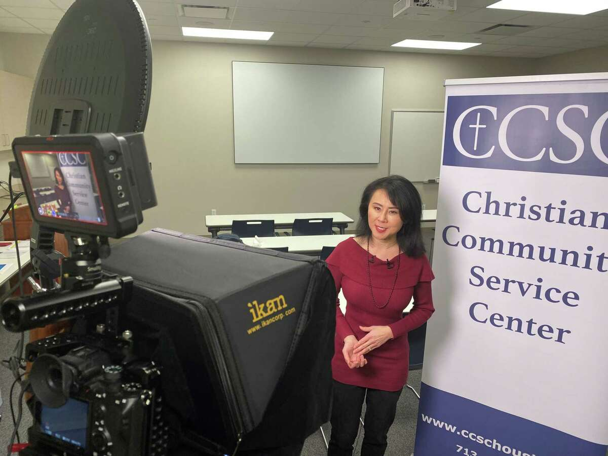KHOU news anchor Shern-Min Chow emceed Christian Community Service Center's 40th birthday