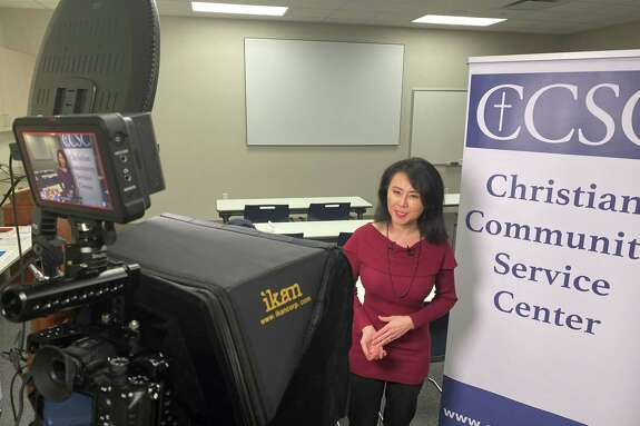 """KHOU news anchor Shern-Min Chow emceed Christian Community Service Center's 40th birthday """"Cheers to 40 Years"""" virtual celebration"""