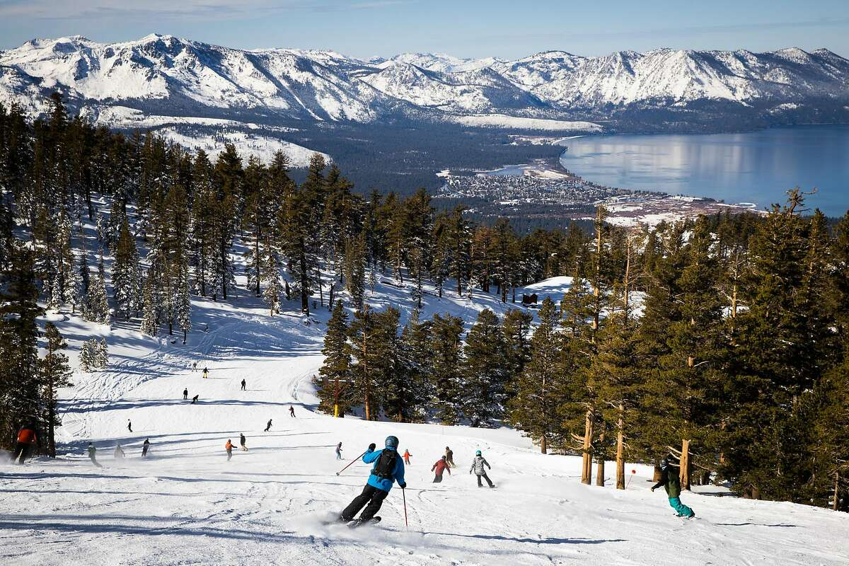 Skiers and snowboarders enjoy opening day at Heavenly Mountain Resort in South Lake Tahoe.