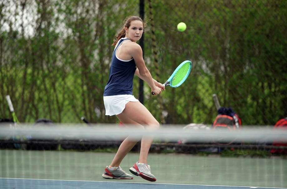 King School senior Olivia Boeckman, a Greenwich resident, signed a National Letter of Intent to play tennis at Lafayette College. Photo: Photo Courtesy Of King School Athletics