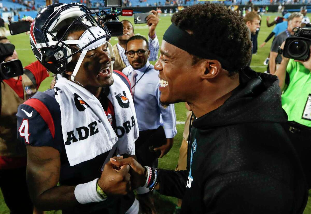 When Deshaun Watson and the Texans played the Panthers in preseason in 2017, it was a special moment for Watson and Cam Newton.