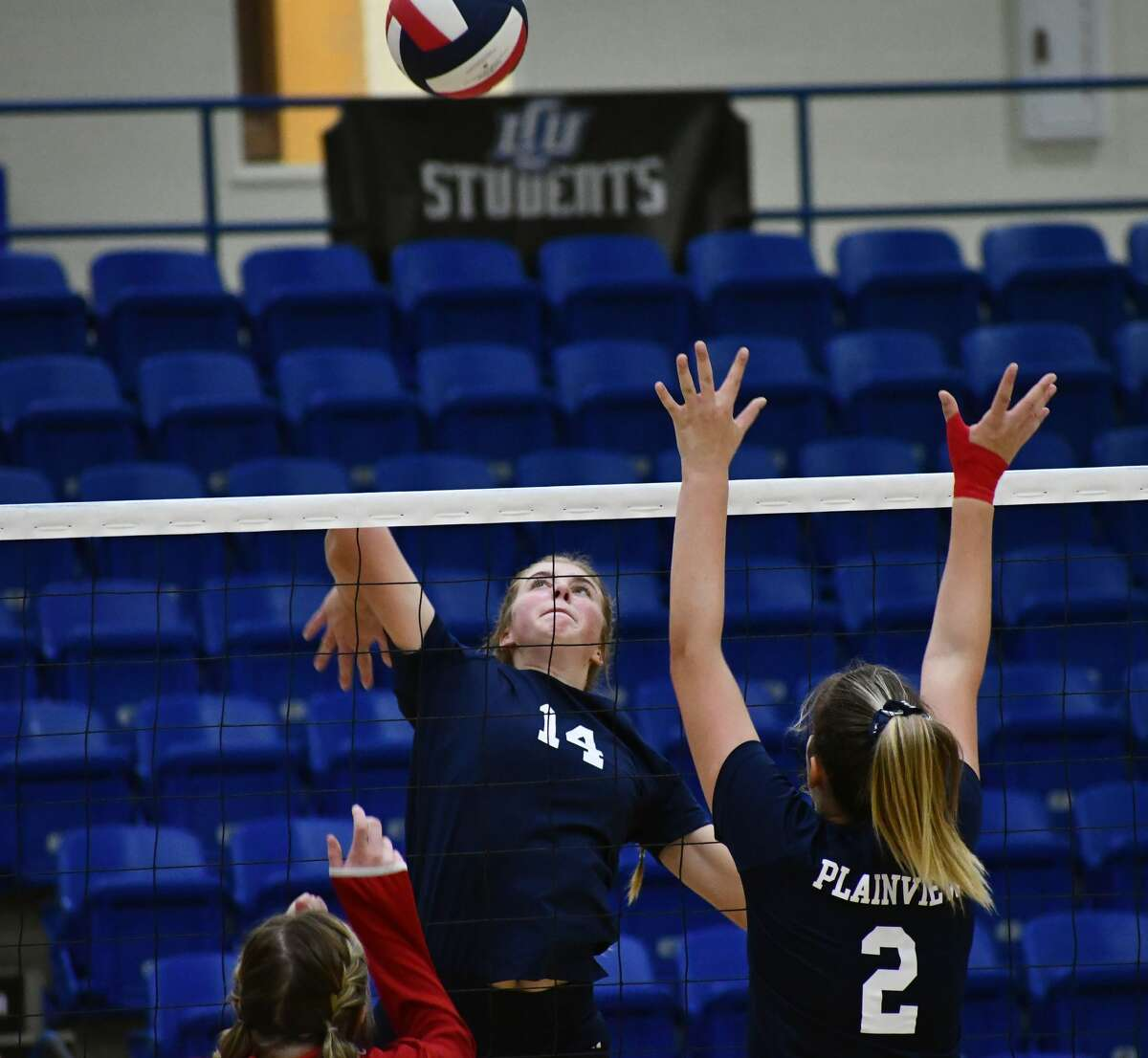 Plainview concluded its season with a 3-0 loss to Lubbock-Cooper in a Class 5A bi-district championship volleyball match on Nov. 21, 2020 in the Rip Griffin Center at Lubbock Christian University in Lubbock.