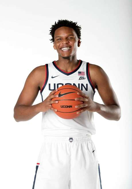 UConn senior forward Josh Carlton, 2020-2021 men's basketball season. Photo: UConn Athletics / Contributed Photo / Stamford Advocate Contributed