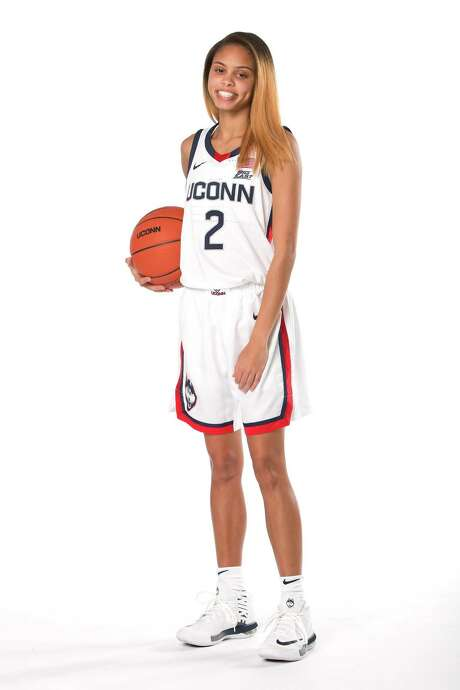 UConn freshman guard Autumn Chassion, 2020-2021 women's basketball season. Photo: UConn Athletics / Contributed Photo / Stamford Advocate Contributed