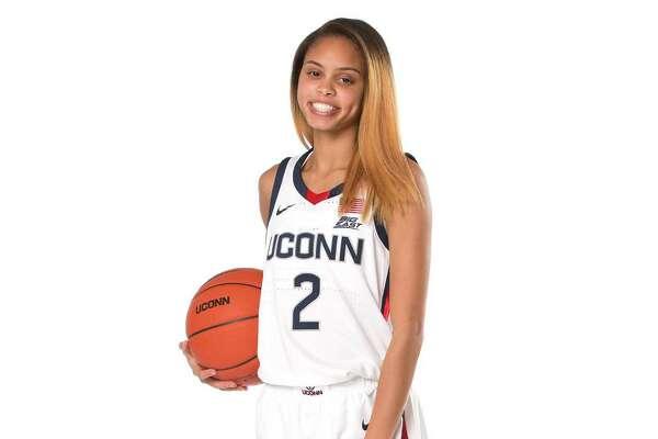 UConn freshman guard Autumn Chassion, 2020-2021 women's basketball season.