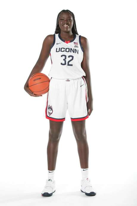 UConn freshman forward Piath Gabriel, 2020-2021 women's basketball season. Photo: UConn Athletics / Contributed Photo / Stamford Advocate Contributed