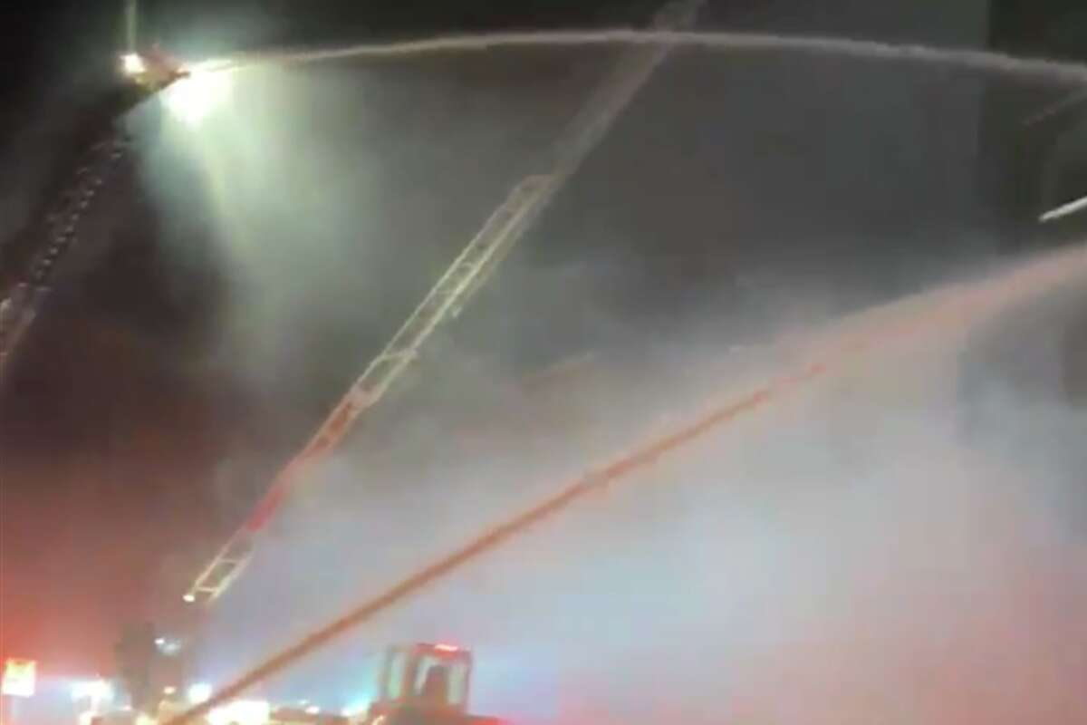 Around 100 firefighters fought a six-alarm fire in Berkeley, California on Nov. 21, 2020.