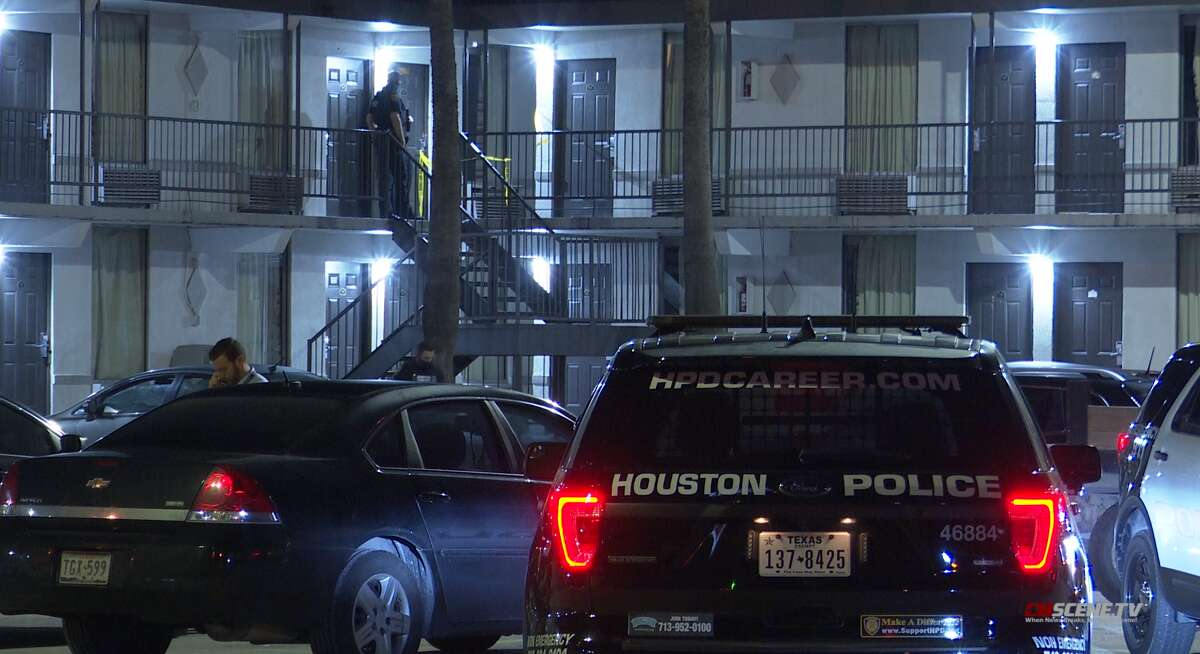 Police investigated a fatal shooting on Nov. 21, 2020, at the Greenchase Inn along the North Freeway.