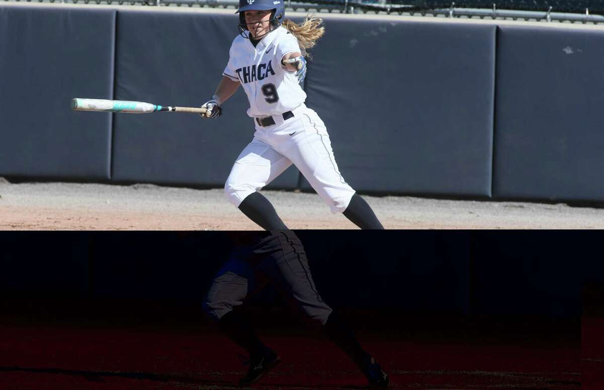 Jessica Fleck, who now works as a marketing assistant with NBC Universal's sports department, used to play softball for Ithaca College. She has since taken up golf.