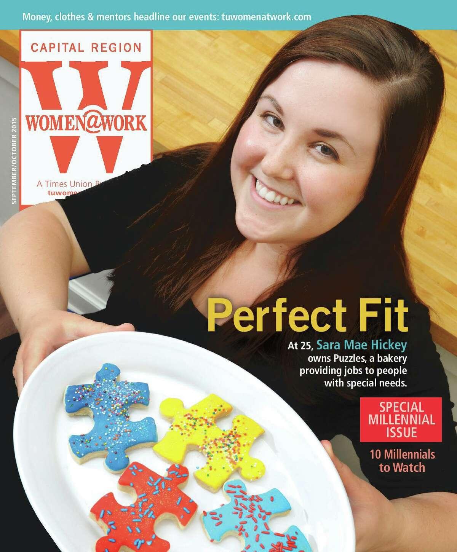 Sarah Mae Pratt, nee Hickey, on the cover of Women@Work magazine in2015.