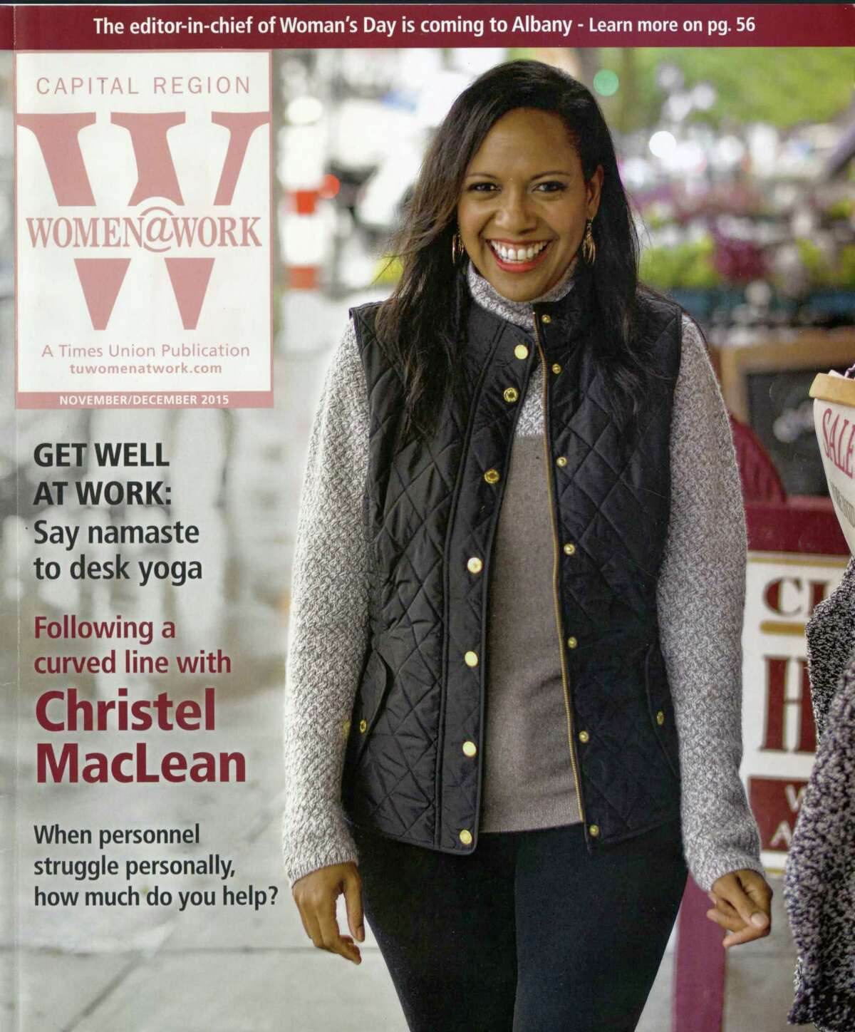 Christel MacLean on a 2015 cover of Women@Work magazine.