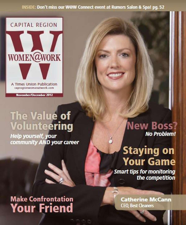 Catherine McCann on the November/December 2012 cover of Women@Work magazine.