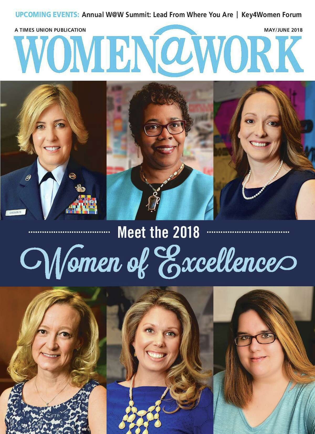 The 2018 Women of Excellence cover of Women@Work, featuring Gretchel Hathaway (top center).
