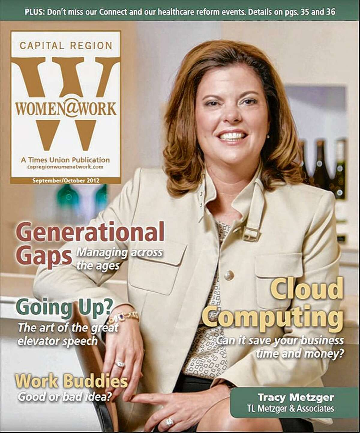 The Sept./Oct. 2012 cover of Women@Work.