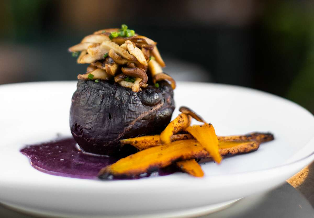Smoked beet at The Nest in Schenectady, a sibling of The Cuckoo's Nest in Albany. (Elario Photography for The Nest.)