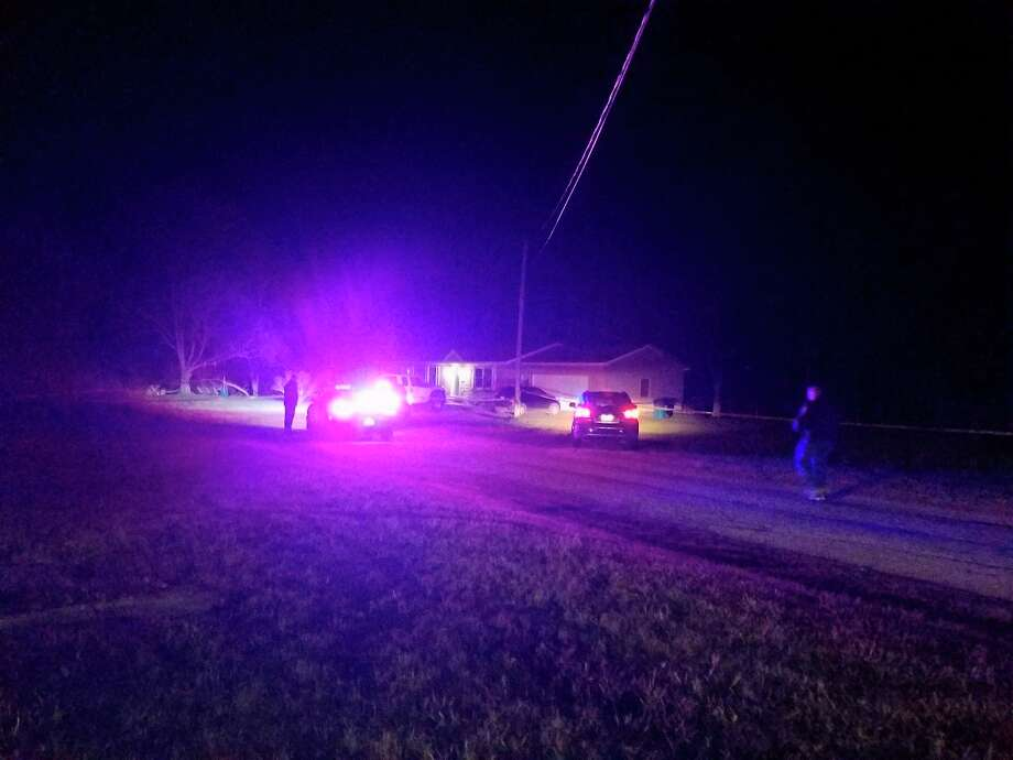 The Benzie County Sheriff's Office and other law enforcement and first responder agencies responded toa shooting in the Village of Elberta on Friday night. (Photo/Colin Merry)