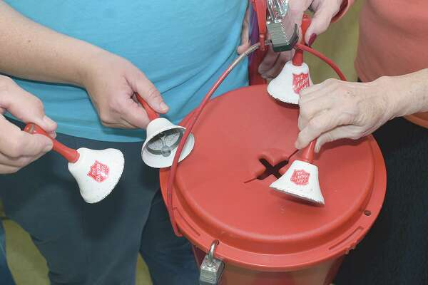 What it looks like when Red Kettle campaign veterans ring the bells.